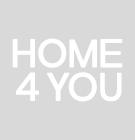 TV table INDUS 133x38xH55cm, mosaic oak veneer doors, black body, grey metal frame